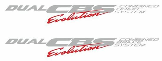 Picture of Dual CBS Evolution 1997 - 1999 replacement Decals / Stickers