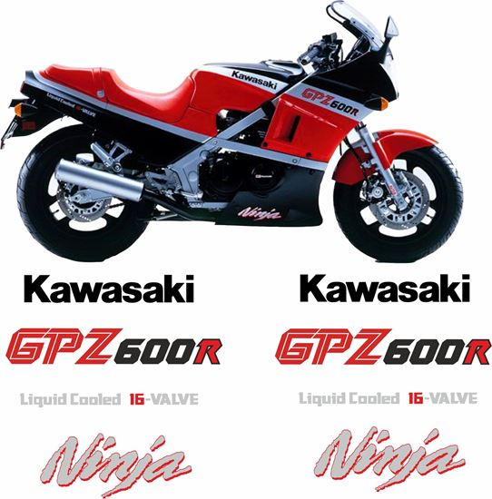 Picture of Kawasaki 600R Ninja replacement Decals / Stickers