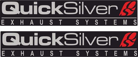 "Picture of ""Quick Silver Exhaust Systems""  Decals / Stickers"