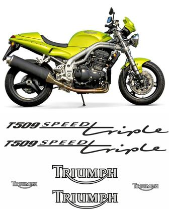 Picture of Triumph Speed Triple T509 1997 - 1998 replacement Decals / Stickers