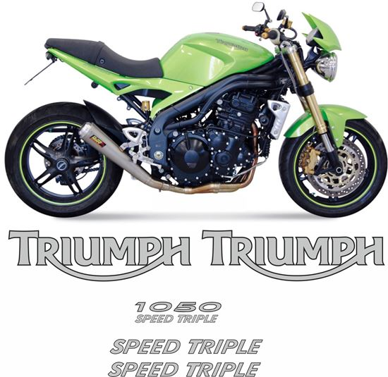 Picture of Triumph Speed Triple 1050 2005 - 2010 replacement Decals / Stickers