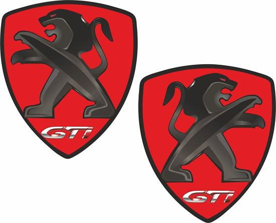 Picture of Peugeot GTi Wing Decals / Stickers
