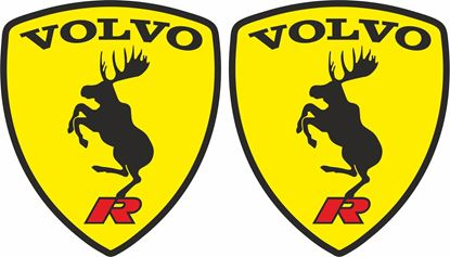 Picture of Volvo R Prancing Moose wing Decals / Stickers