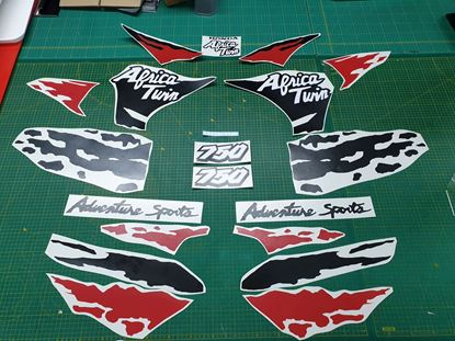 Picture of Honda XRV African Twin 750 1994 full replacement Custom colour Decals / Sticker