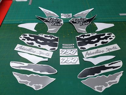 Picture of Honda XRV African Twin 750 1994 full replacement Custom colour Decals / Stickers