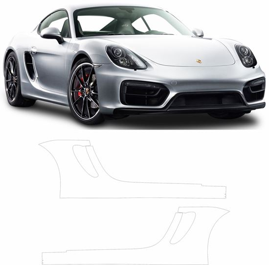 Picture of 981 Cayman GTS Pre Cut PPF Sill / rear Arch Stone Guards