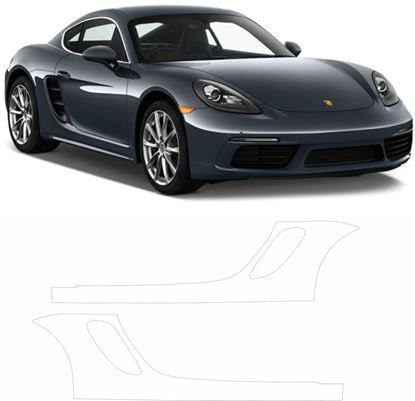 Picture of 718 Cayman Pre Cut PPF Sill / rear Arch Stone Guards