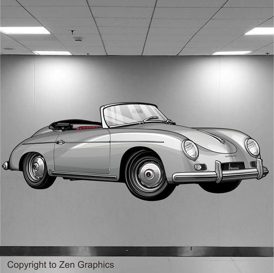 Picture of Porsche 356 Speedster Wall Art sticker (Full colour)