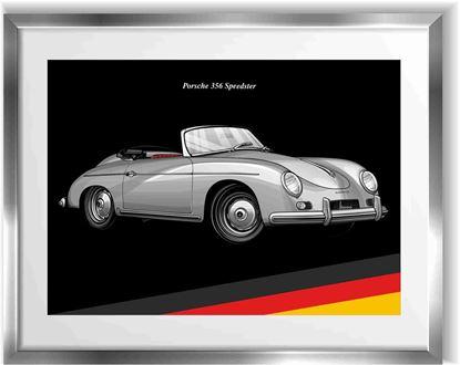 Picture of Porsche 356 Speedster Wall Frame Art Print