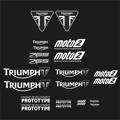Picture of Triumph 765 Triple Moto2 MotoGP replica Decals / Stickers