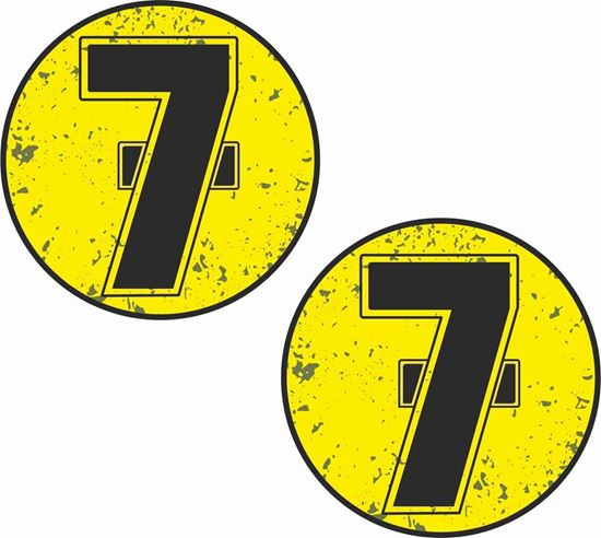 """Picture of """"7 Barry Sheene"""" Decals / Stickers"""