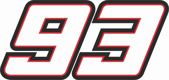 """Picture of """"92 """"Marc Marqiuez  Track and street race nose cone number Decal / Sticker"""