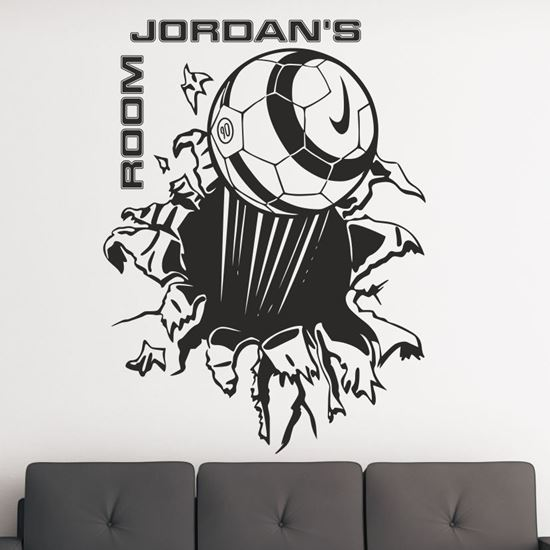 Picture of Football Custom Name Wall Art sticker