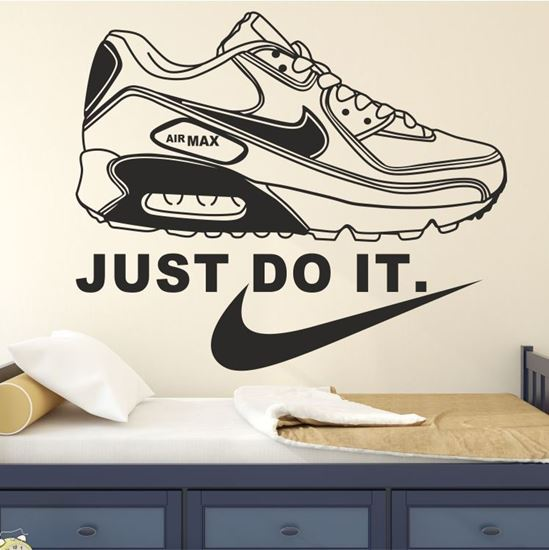 "Picture of ""Just Do it"" Nike Air Max Wall Art sticker"