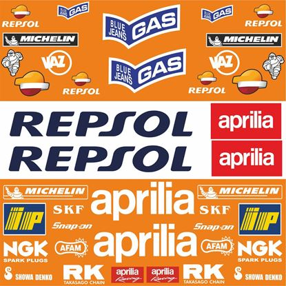 Picture of Aprilia Repsol Sponsor MotoGP Decals / Stickers Kit