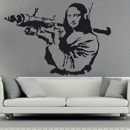 Picture of Banksy Mona Lisa Wall Art sticker