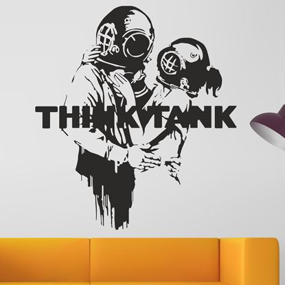 """Picture of Banksy """"Think Tank""""  Wall Art sticker"""