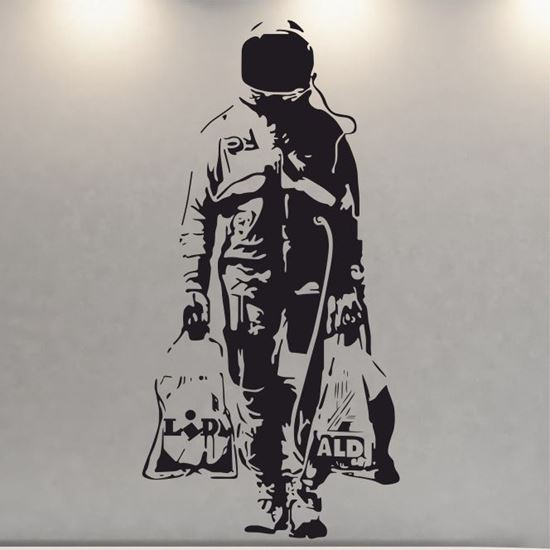 Picture of Banksy Astronaut Wall Art sticker