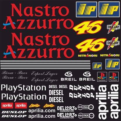 Picture of Aprilia Nastro Azzurro motoGP Decals / Stickers Kit