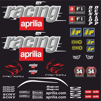 Picture of Aprilia RS 50 / 125 MotoGP Decals / Stickers Kit
