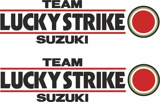 Picture of Suzuki Lucky Strike Team Decals / Stickers