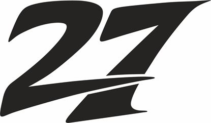 """Picture of """"27"""" Factory Suzuki RGV500 Katsu Fuliwara Track and street race nose cone number Decal / Sticker"""