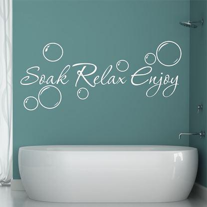 "Picture of ""Soak Relax Enjoy"" Wall Art sticker"