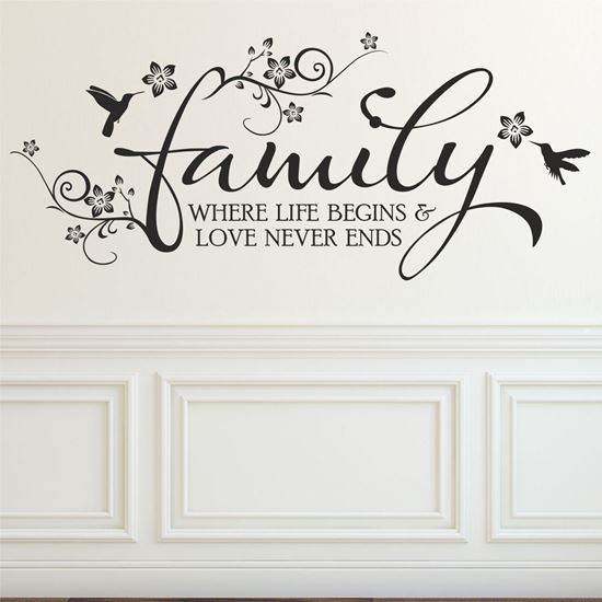 """Picture of """"Family...""""  Wall Art sticker"""
