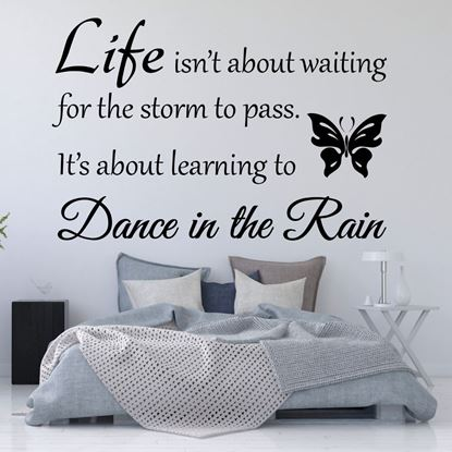 """Picture of """"Life isn't about waiting...""""  Wall Art sticker"""