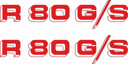 Picture of BMW R 80GS replacement side panel Decals / Stickers