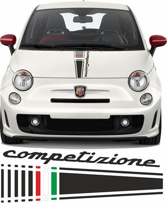 Picture of Fiat 595 Competizione Italia Bonnet Stripe / Sticker