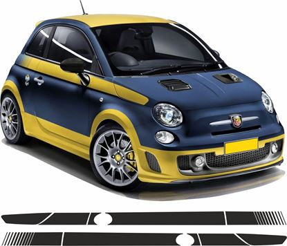 Picture of Fiat 500 / 595 / 695 side Stripes / Stickers FACTORY FIT