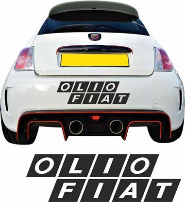 Picture of Fiat Olio rear Bumper Decal / Sticker