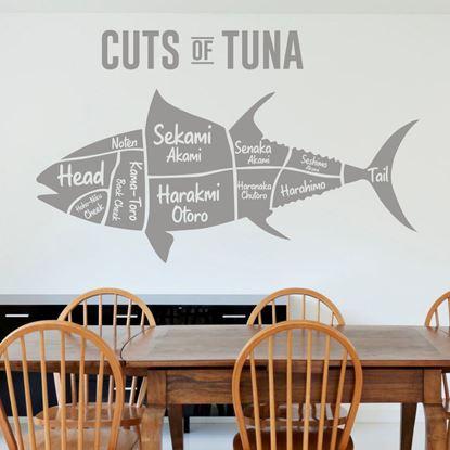 "Picture of ""Cuts of Tuna...""  Wall Art sticker"