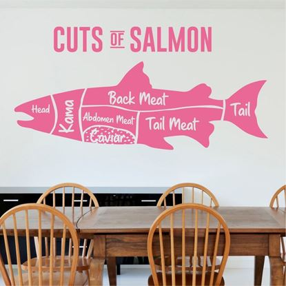 """Picture of """"Cuts of Salmon...""""  Wall Art sticker"""