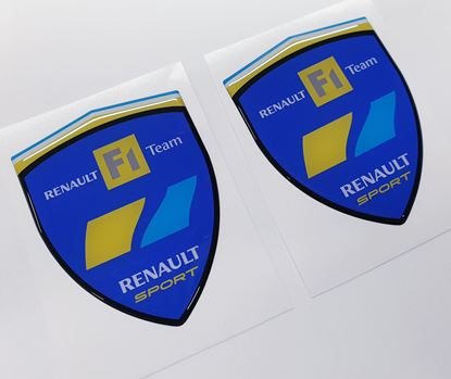 Picture of Renault F1 Team Wing  Badges 80mm