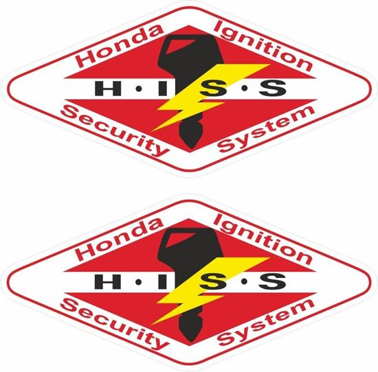 Picture of Honda Ignition Security System replacement Decal / Sticker