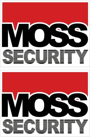 Picture of MOSS Security Glass  Decals / Stickers