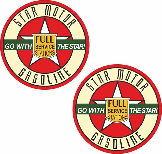 Picture of Star Motor Gasoline Decals / Stickers