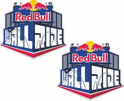 Picture of Red Bull Wall Ride Decals / Stickers