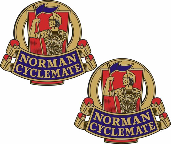Picture of Norman Cyclemate Motorcycle Decals / Stickers