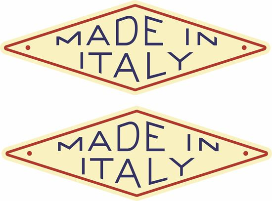 """Picture of Parilla """"Made in Italy""""  replacement Decals / Stickers"""