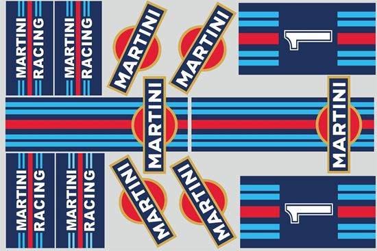 "Picture of ""Martini""  Track and street race sponsor Sticker Sheet"