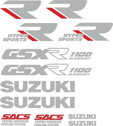 Picture of Suzuki GSX-R 1100 1989 - 1990 replacement Decals / Stickers