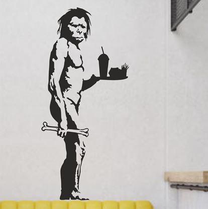 Picture of Banksy Caveman McDonalds Wall Art sticker