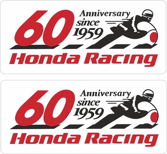 Picture of Honda Racing 60th Anniversary Decals / Stickers