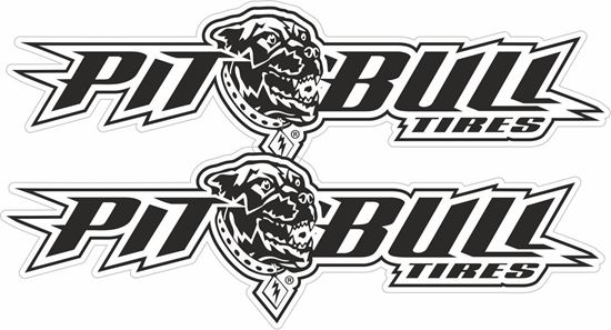 """Picture of """"Pitbull Tires""""  Decals / Stickers"""