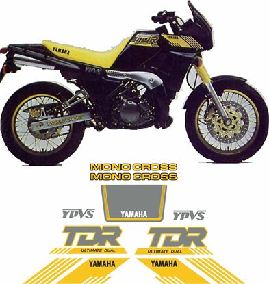 Picture of Yamaha TDR250 1988 - 1992 replacement Decals / Stickers