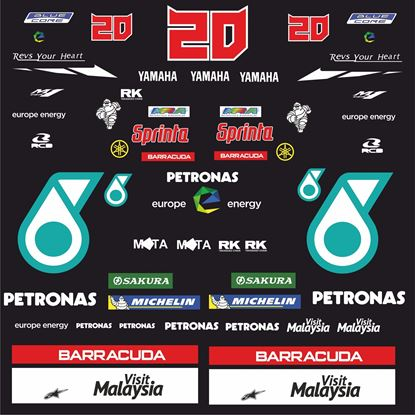 Picture of Yamaha R1 / R6 MotoGP Fabio Quartararo Patronas Decals / Stickers kit
