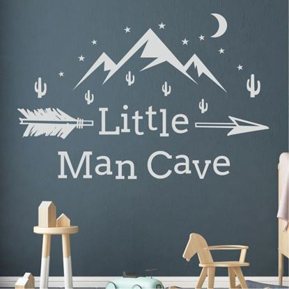 """Picture of """"Little Man Cave"""" Wall Art sticker"""